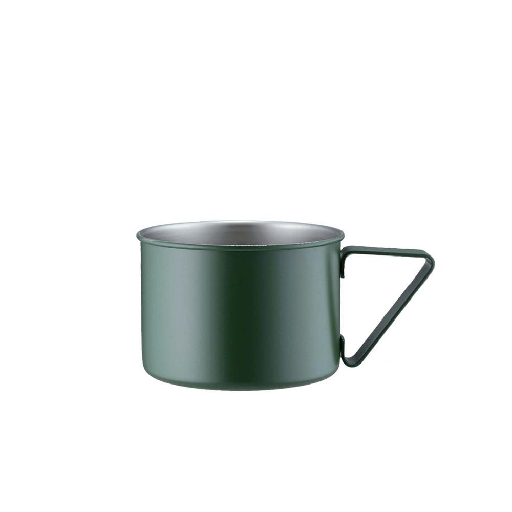 高桑elfin 露營野餐馬克杯370ml-綠
