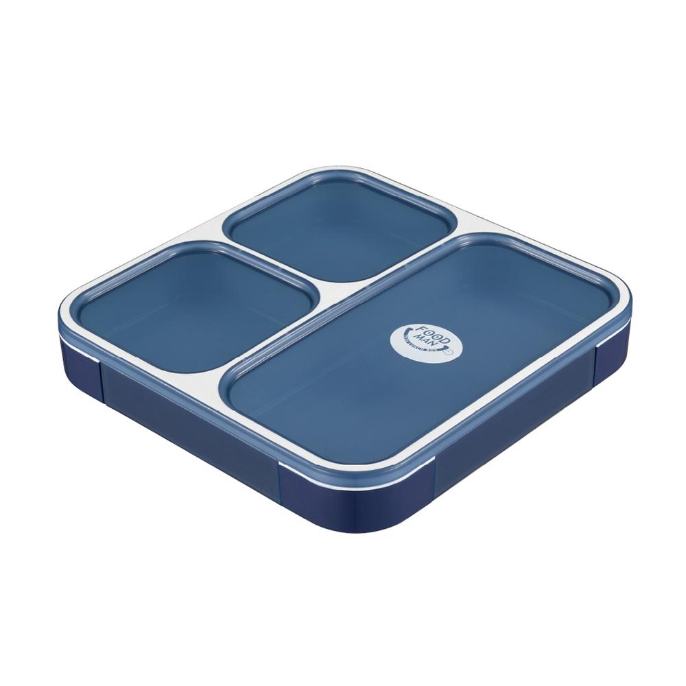 CB Japan 時尚巴黎系列纖細餐盒800ml - 時尚藍