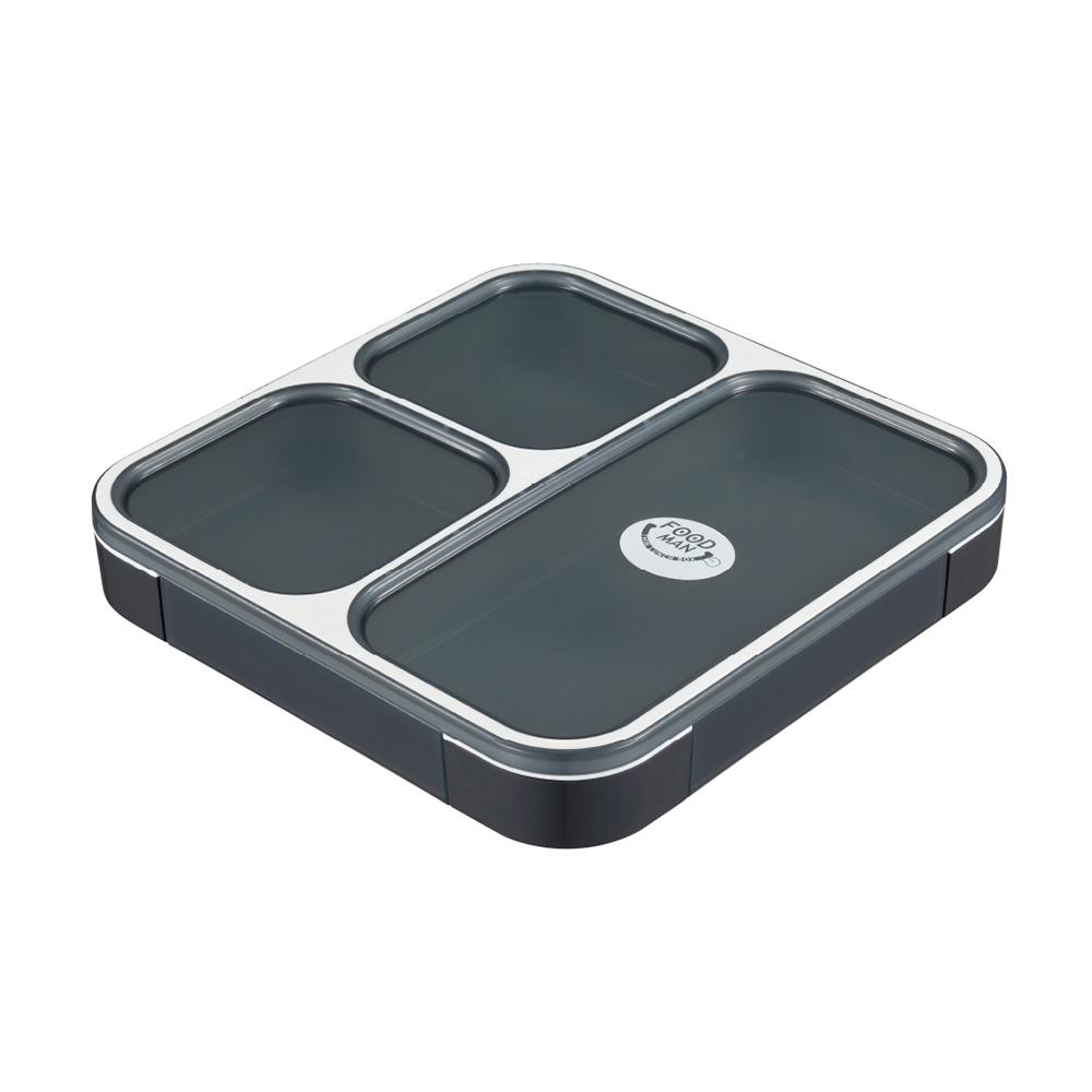 CB Japan|時尚巴黎系列纖細餐盒800ml - 時尚黑
