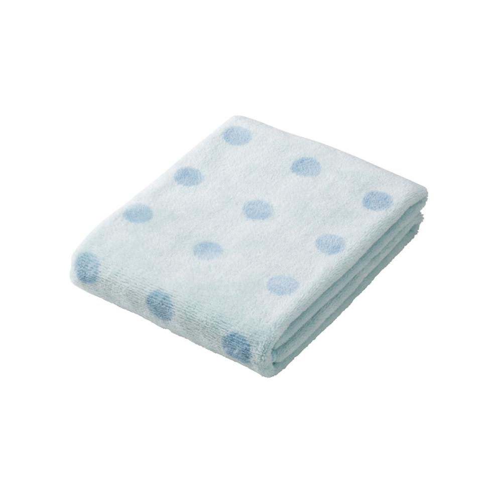 CB Japan|點點系列超細纖維3倍吸水擦頭巾 - 點點藍