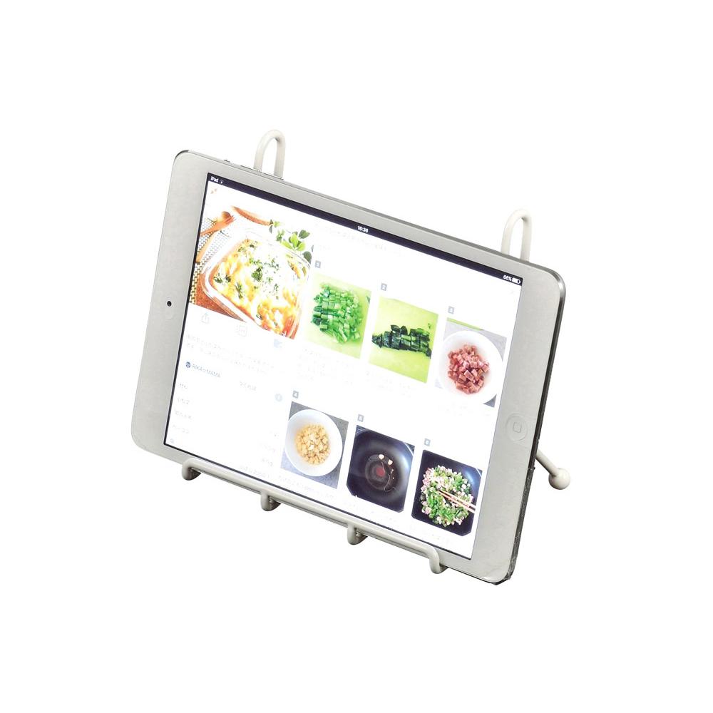 日本珍珠金屬 花漾金屬平板電腦食譜置放架