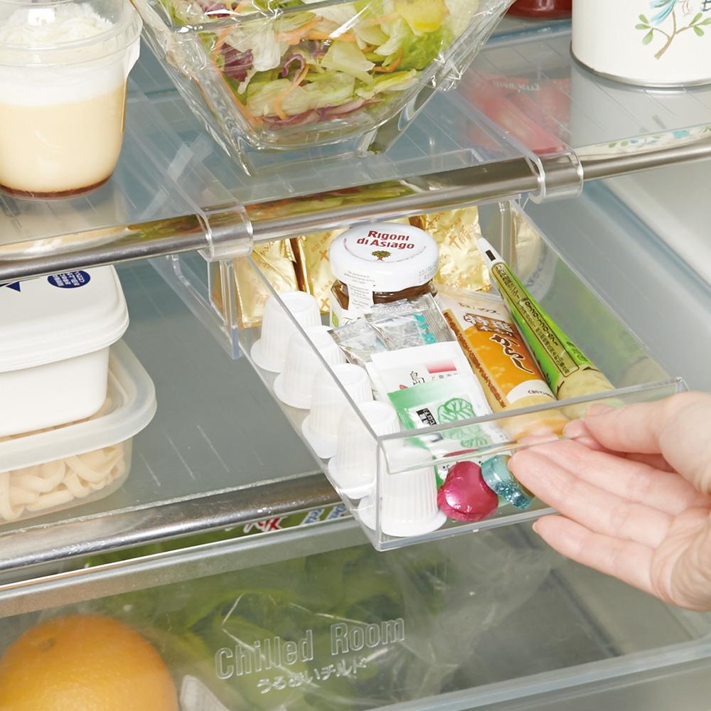 日本ISETO   懸掛式冰箱抽屜儲物盒-寬版