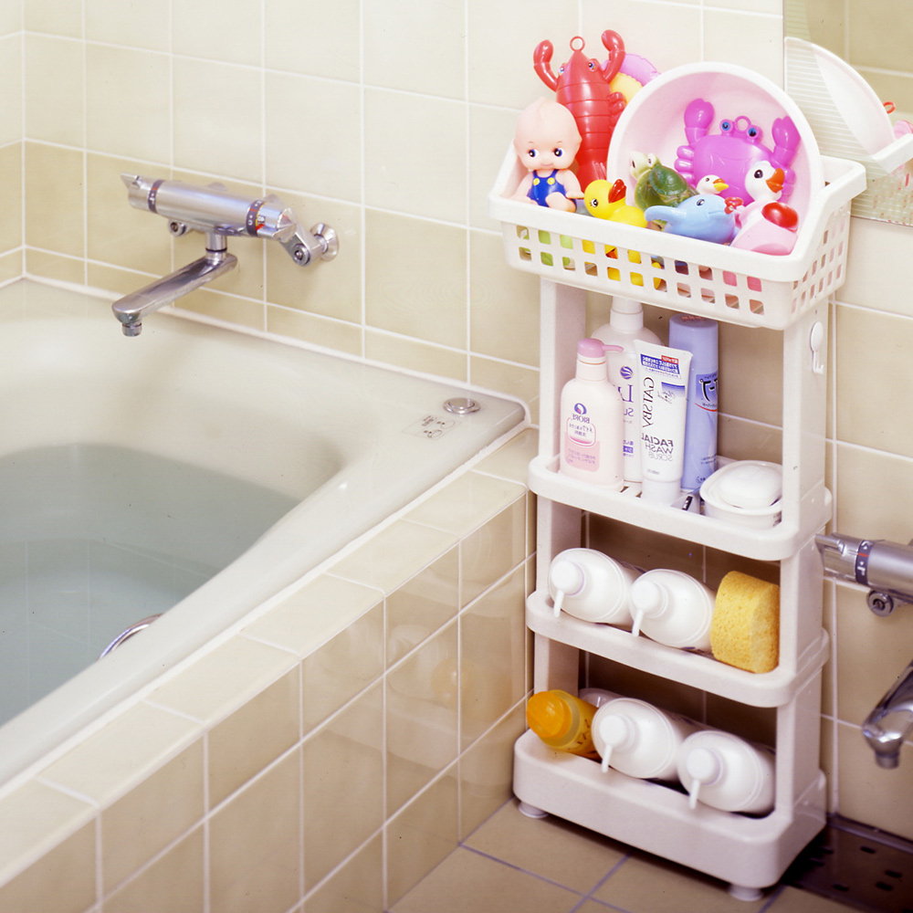 日本ISETO | 浴室斜取置物架-4層