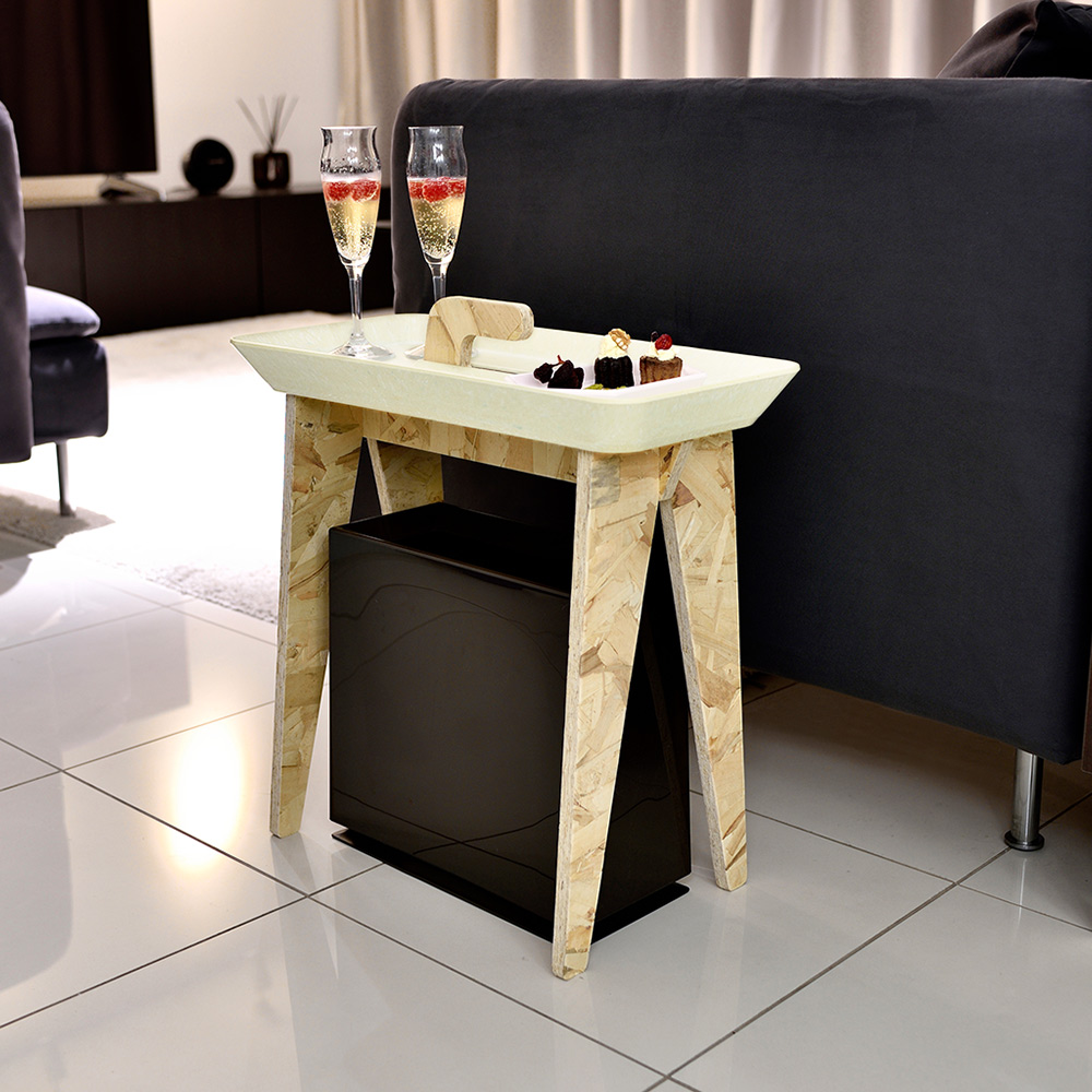 日本IDEACO|木質托盤側桌