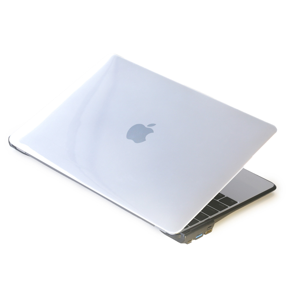 CARD BOOST-MacBook 12 終極HUB擴充筆電殼 - 透明/黑