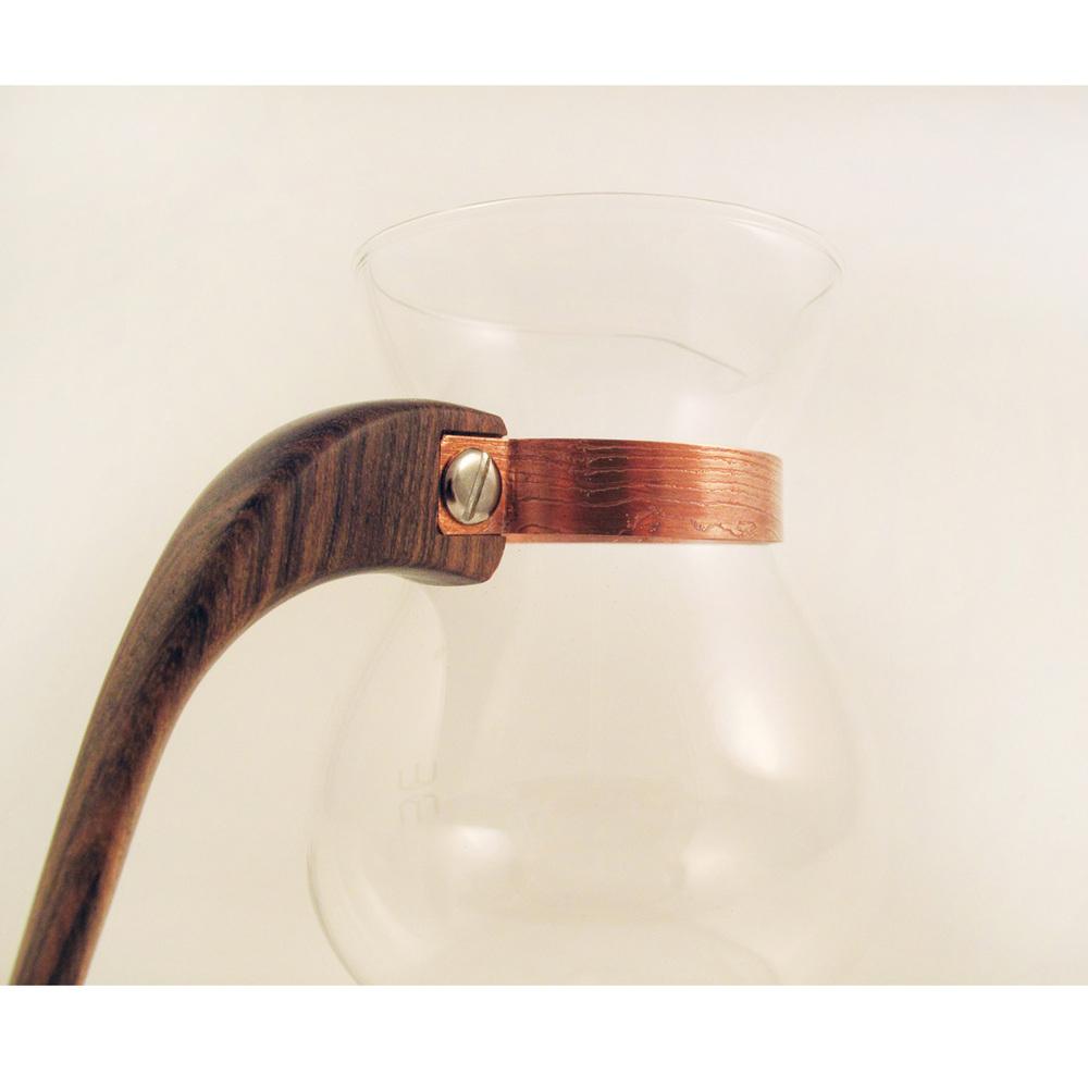 WM木合金|露・La Rosée木質手感咖啡壺組-簡約款-1壺(黃金檀破布木)