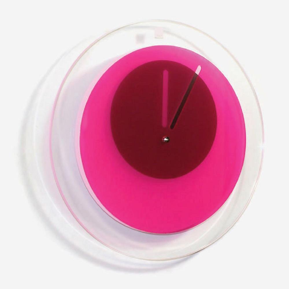BLOCK|Orbit Clock 環行鐘 (桃紅色)