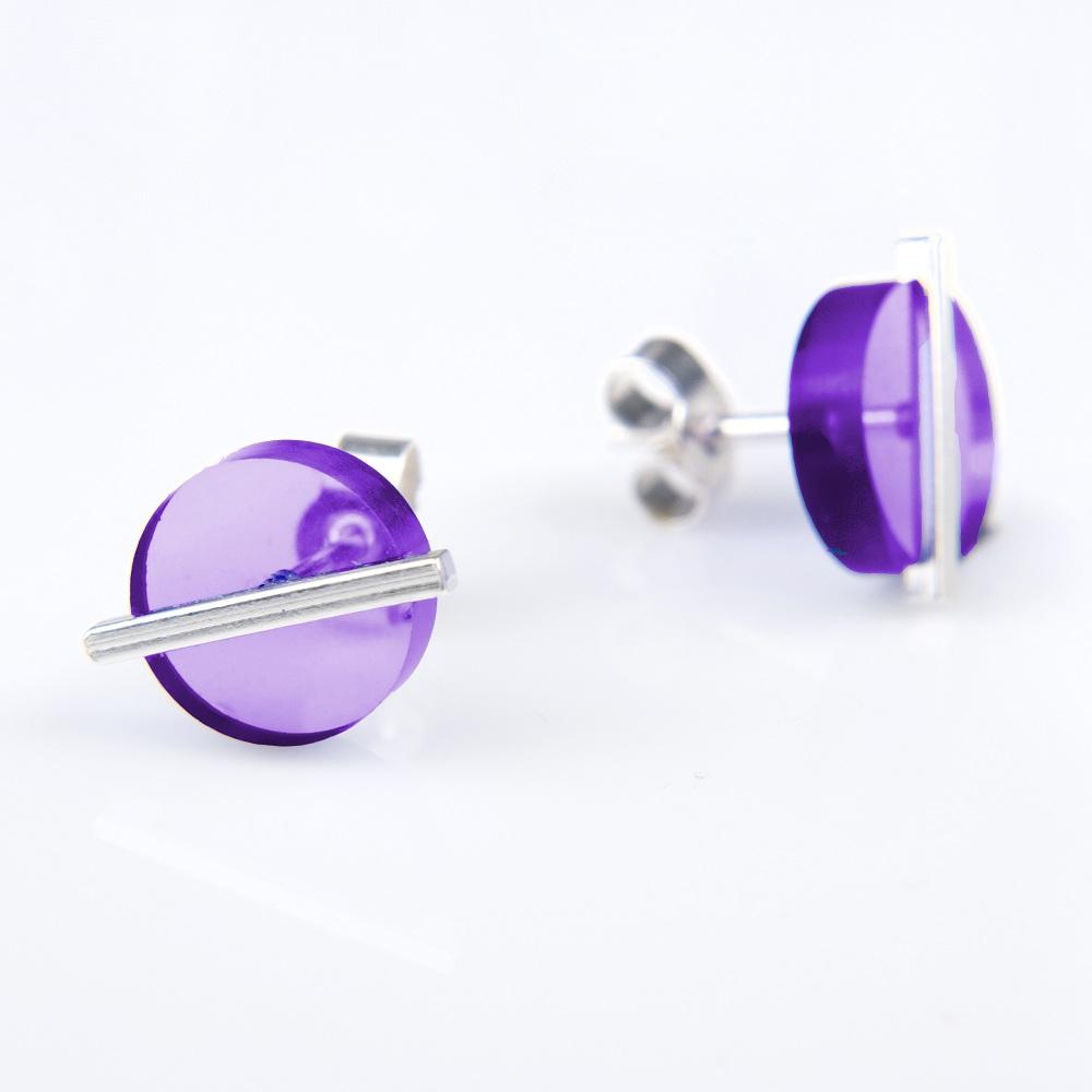 BLOCK|Block Earring 耳環 (紫色)