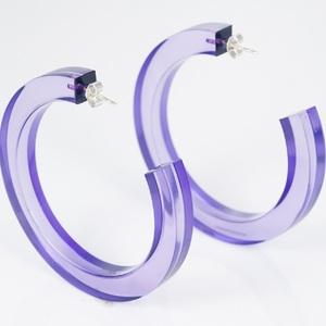 BLOCK|Block Hoops 耳環 (紫色)