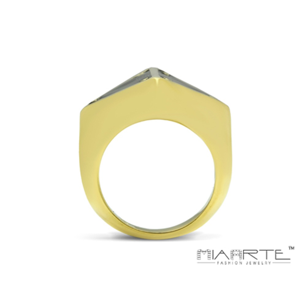 Miaarte 極簡風格幾何造型鍍金戒指
