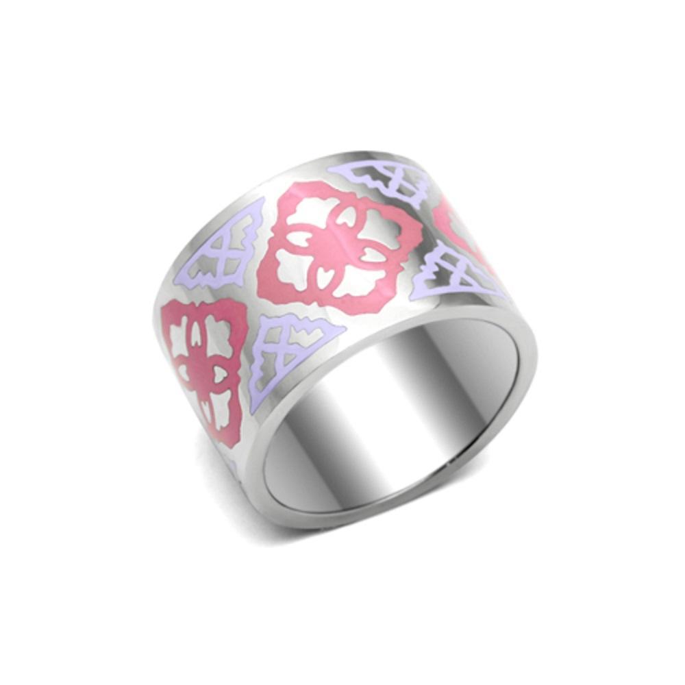 Miaarte|粉嫩花紋設計戒指