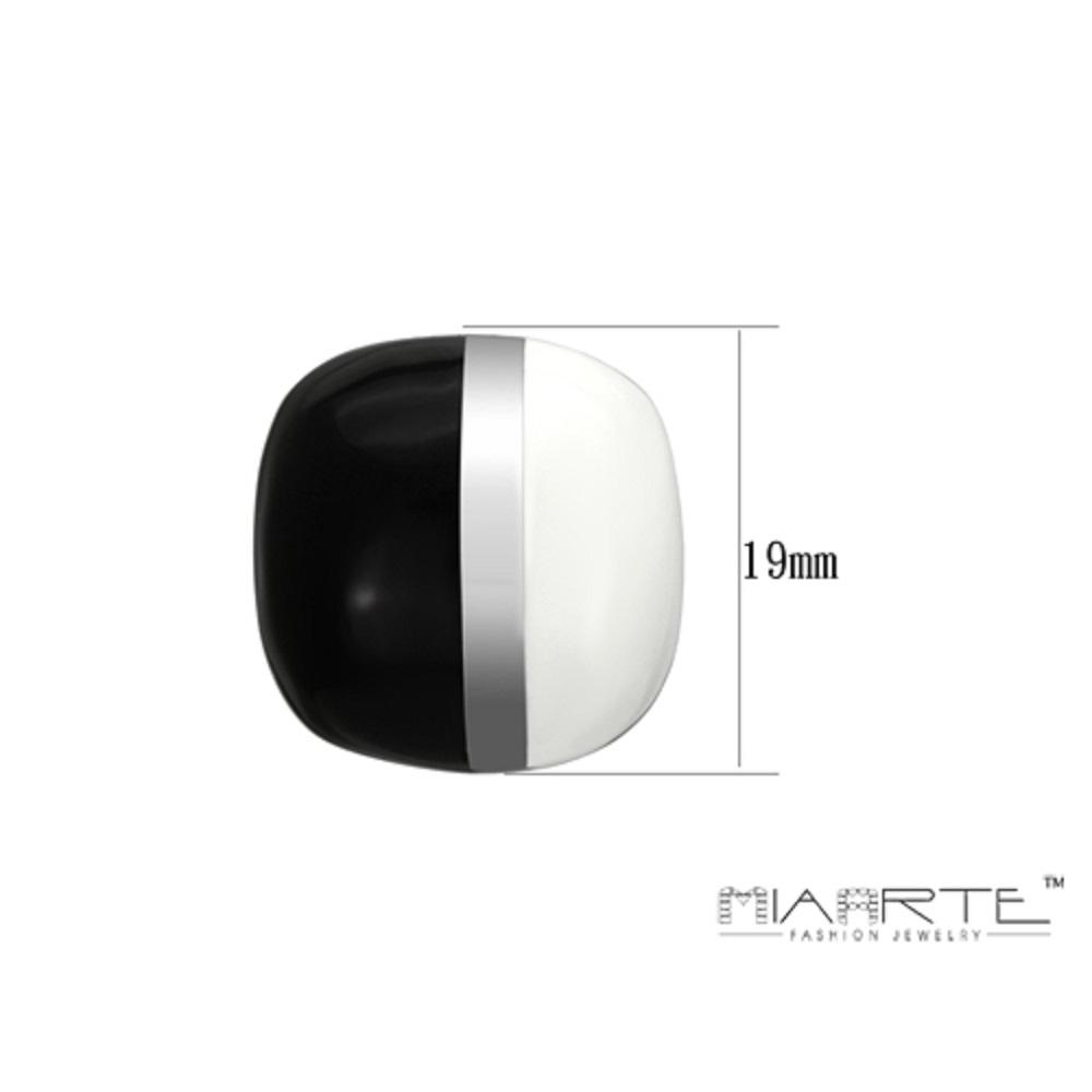 Miaarte|復古黑白圓角耳環