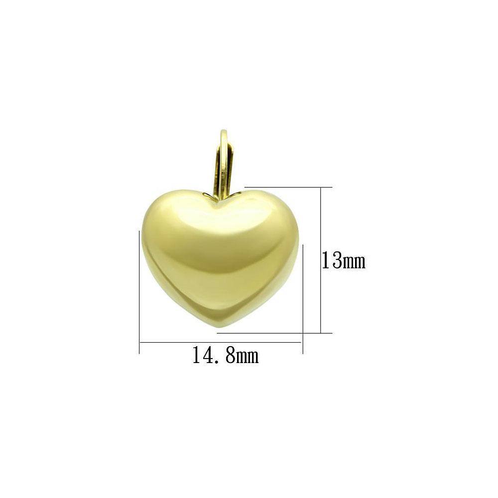 Miaarte|愛心造型不鏽鋼耳環