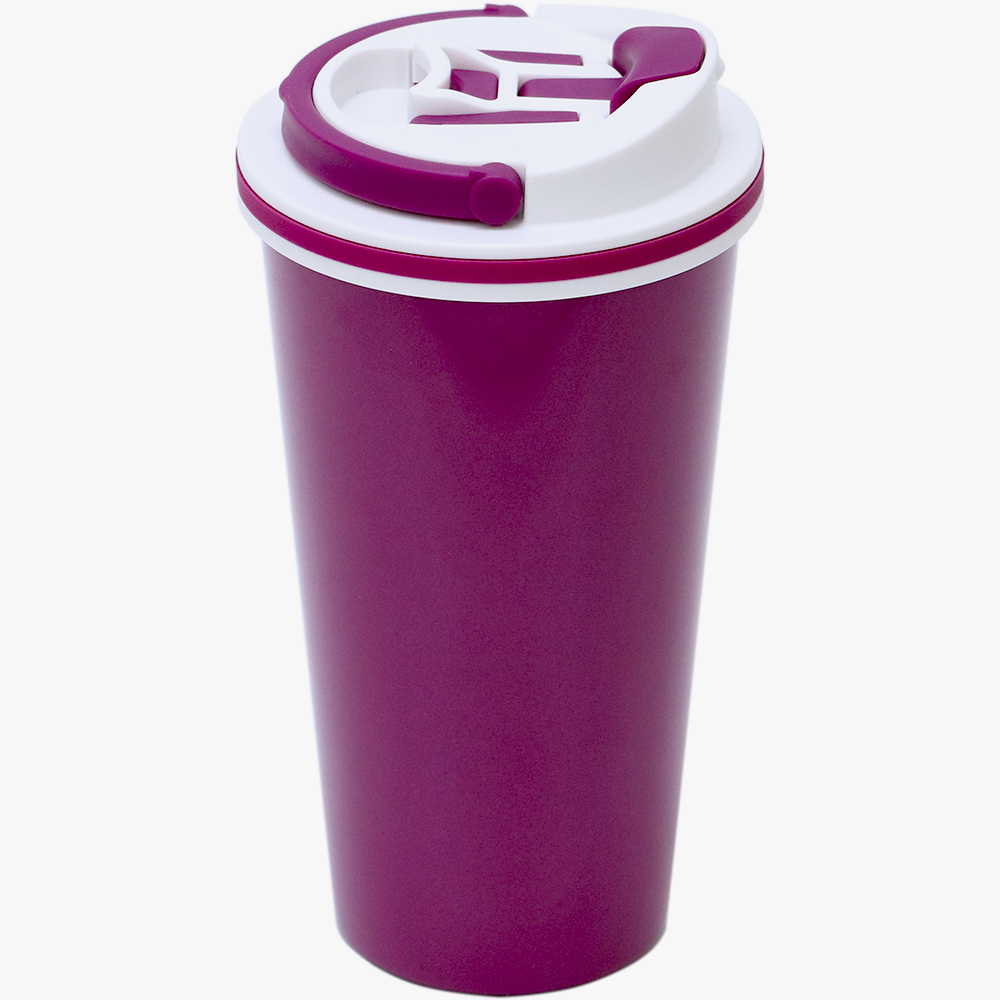 plastudio|拉拉扣不鏽鋼保溫杯-500ml(櫻桃紅)