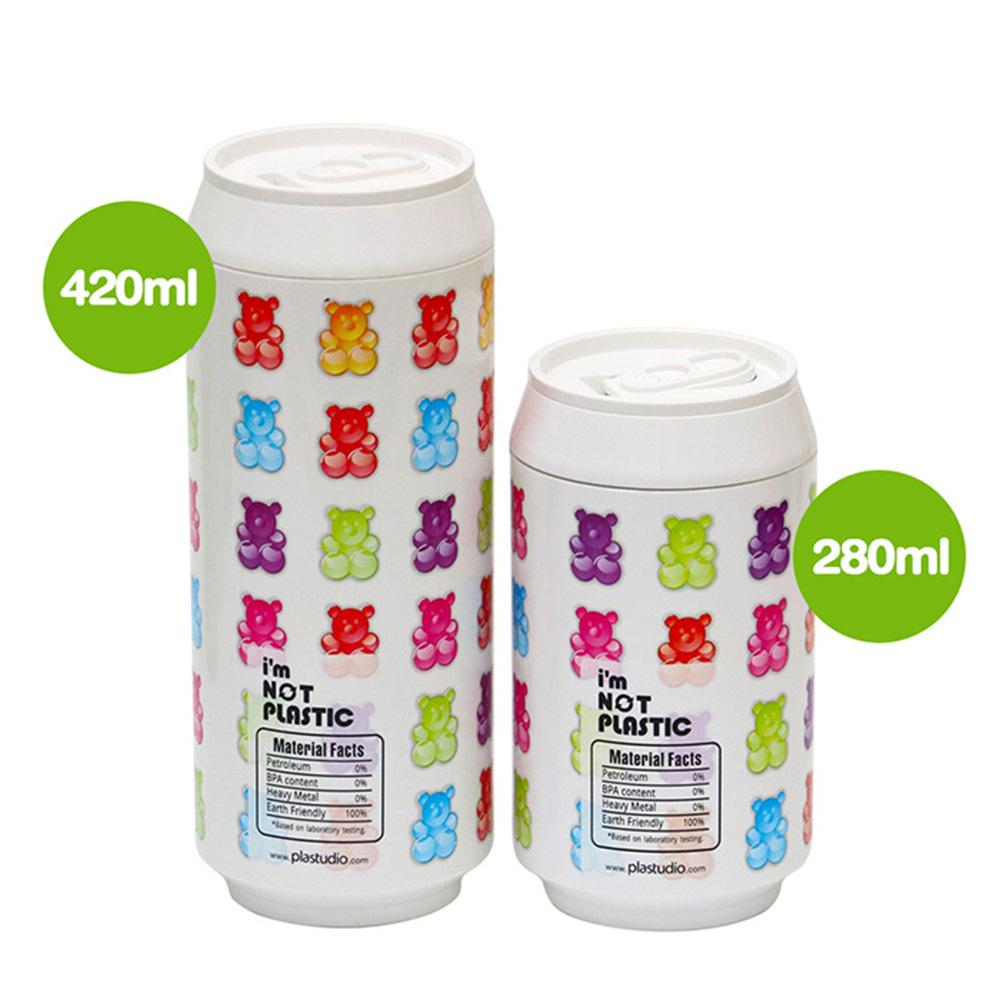 plastudio 玉米材質環保杯-Eco Can-280-軟糖熊-白色