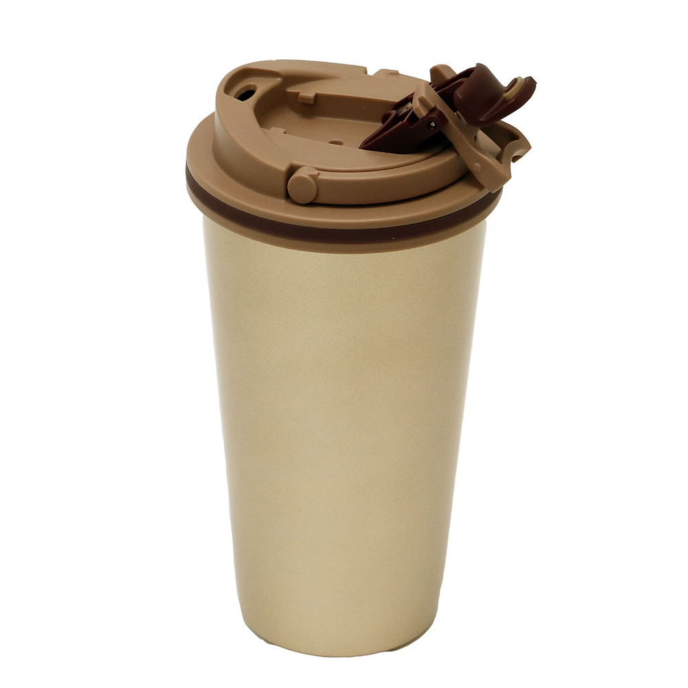 plastudio|拉拉扣不鏽鋼保溫杯-500ml(炫亮金)