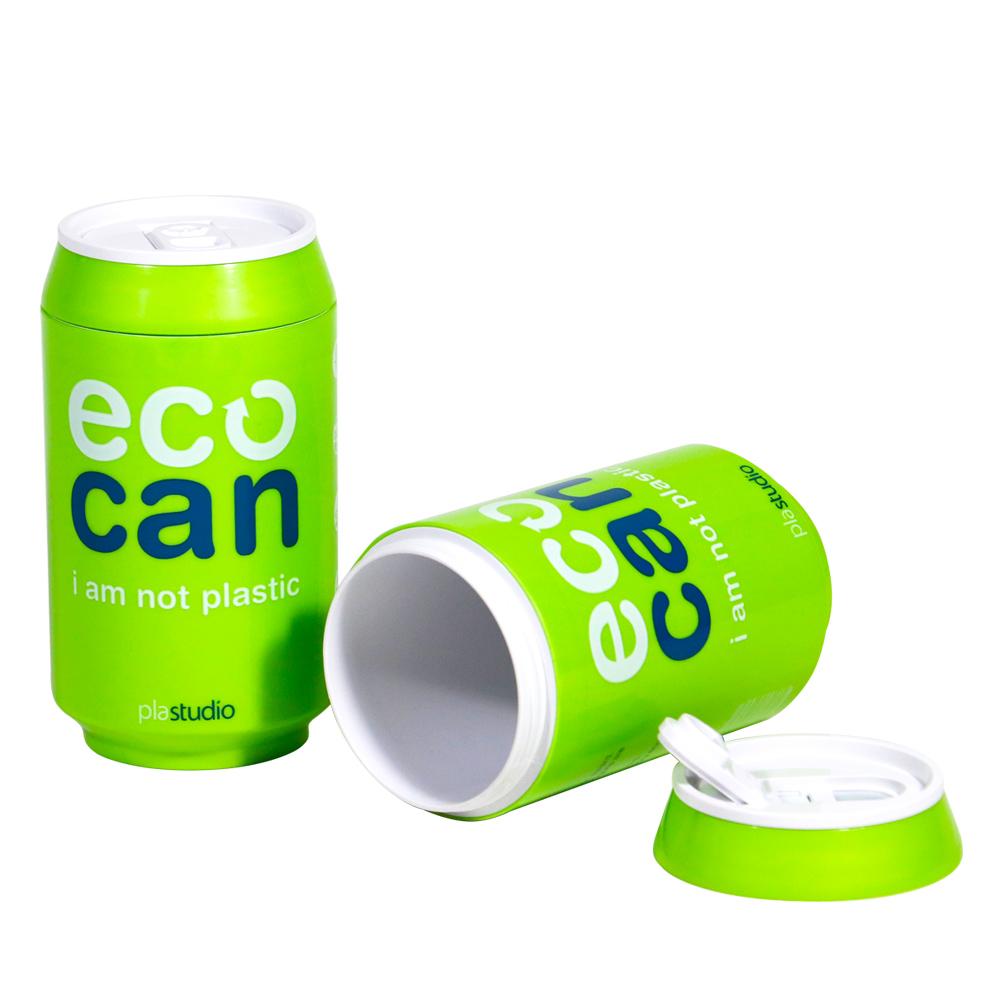 plastudio|玉米材質環保杯-Eco Can-280ml-綠色-生物可分解材料