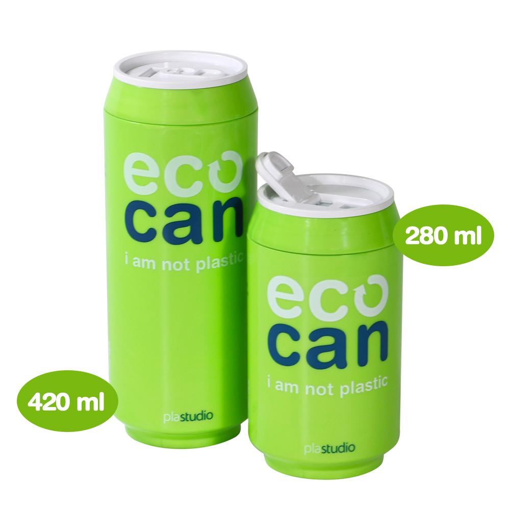 plastudio 玉米材質環保杯-Eco Can-420ml-綠色-生物可分解材料