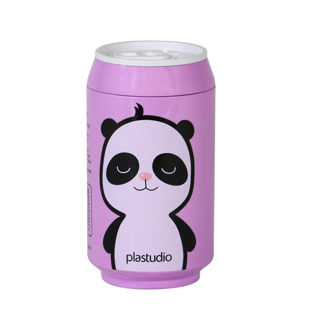 plastudio|玉米材質環保杯-Eco Can-280ml-紫色-Panda 限定版
