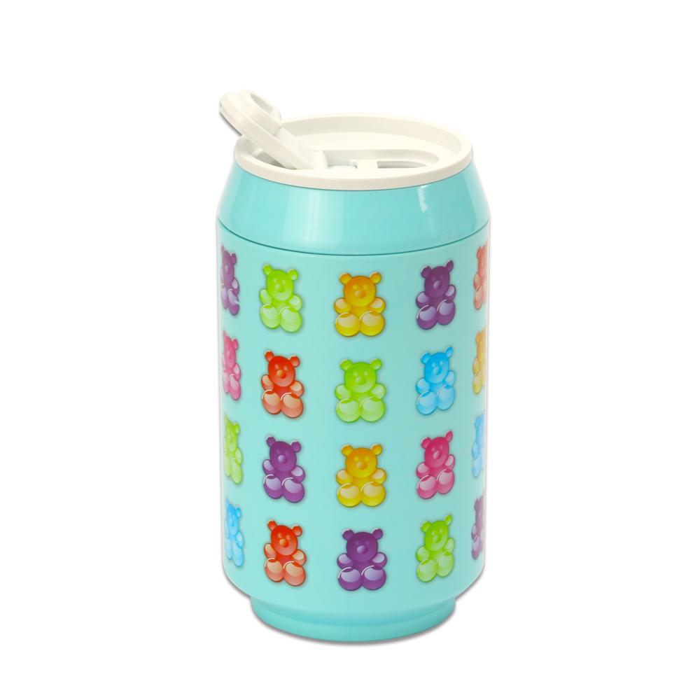 plastudio 玉米材質環保杯-Eco Can-280-軟糖熊-天藍色