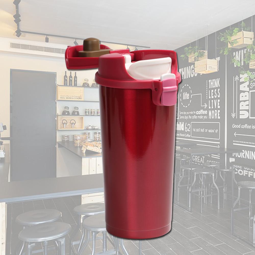 plastudio|Pop! Mug 不鏽鋼保溫杯-紅色