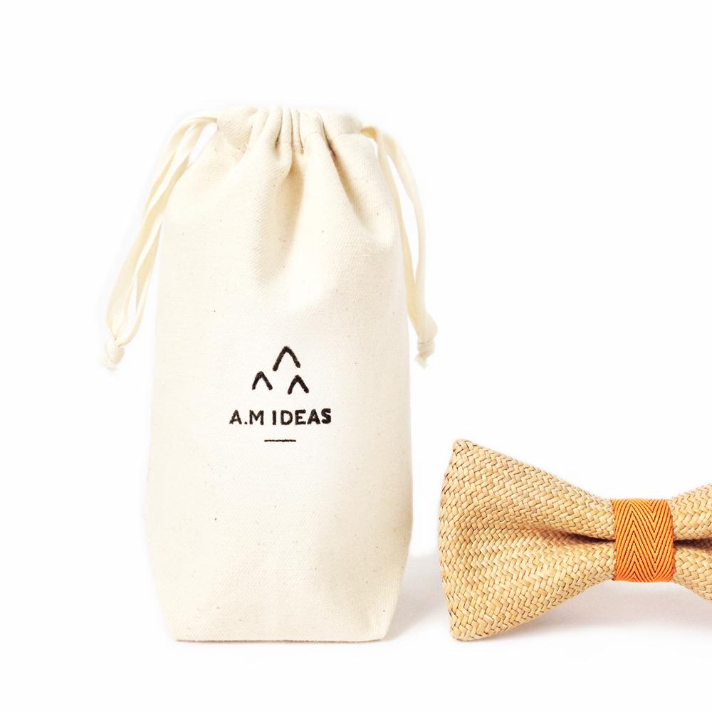 A.M IDEAS|藺結 Rush Grass Bow Tie(橘)