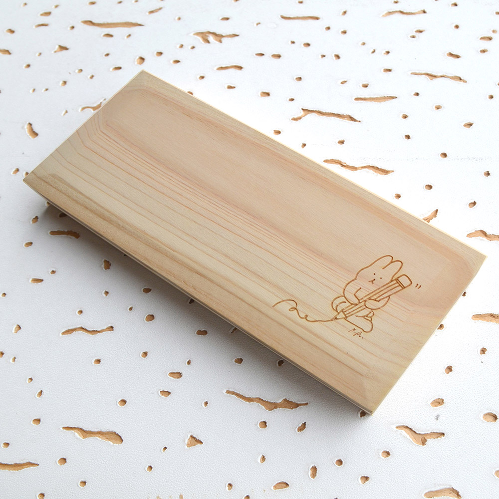 一郎木創|糯米兔x檜木筆盒