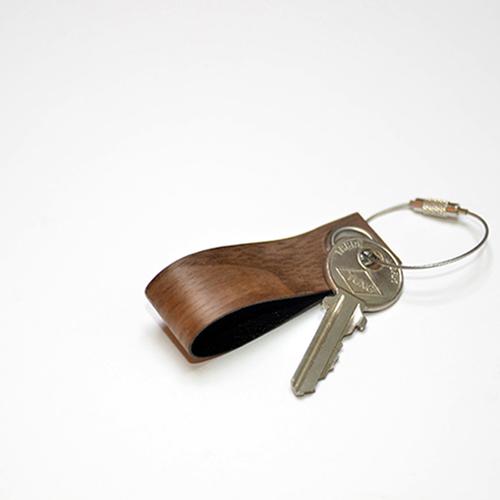 一郎木創|木革鑰匙圈(櫻桃木、胡桃木各1入)