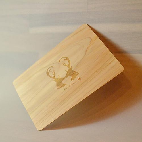 一郎木創|PURE卡(2入)木質卡片