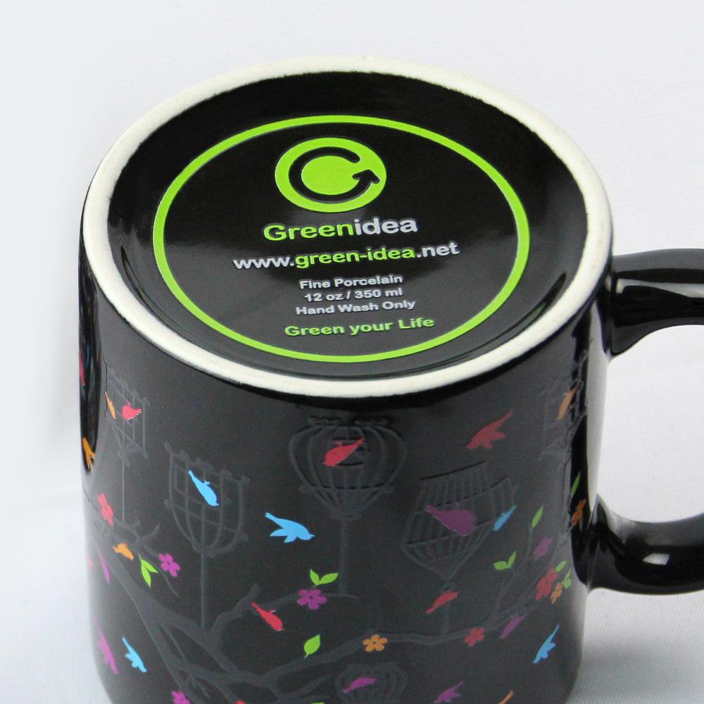 Green Idea|Birds 變色馬克杯(黑色)