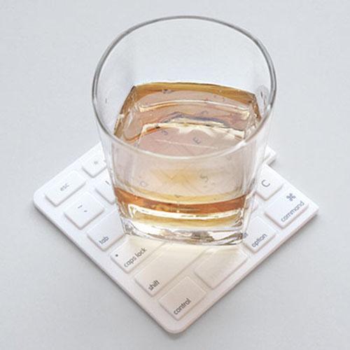 RayDot|鍵盤杯墊-D(白)
