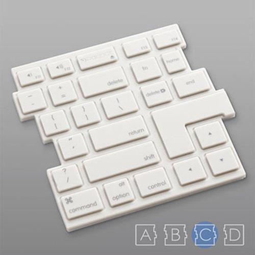 RayDot|鍵盤杯墊-C(白)