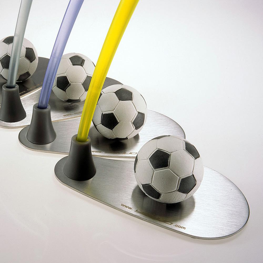 yeduo|運動造型衣架-足球(綠+粉紅)