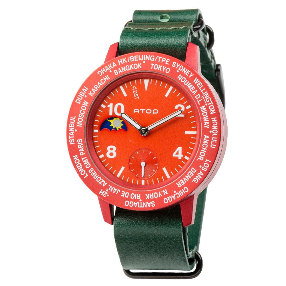 ATOP 世界時區腕錶 - AWA-05-L05 紅色