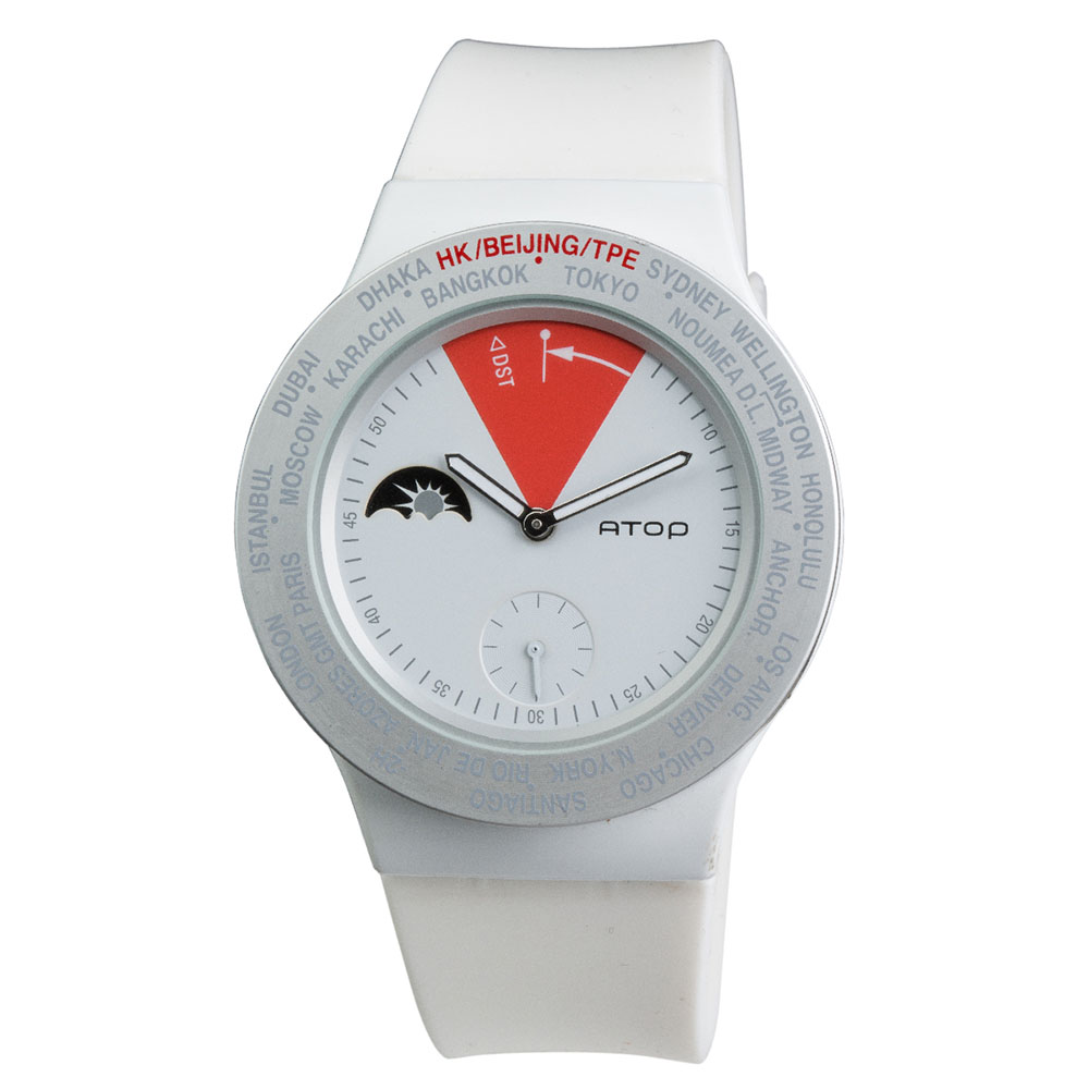 ATOP 世界時區腕錶 - VWA-12 白色
