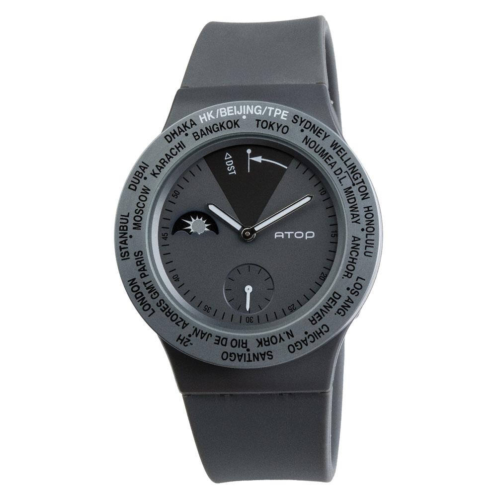 ATOP 世界時區腕錶 - VWA-09 灰色