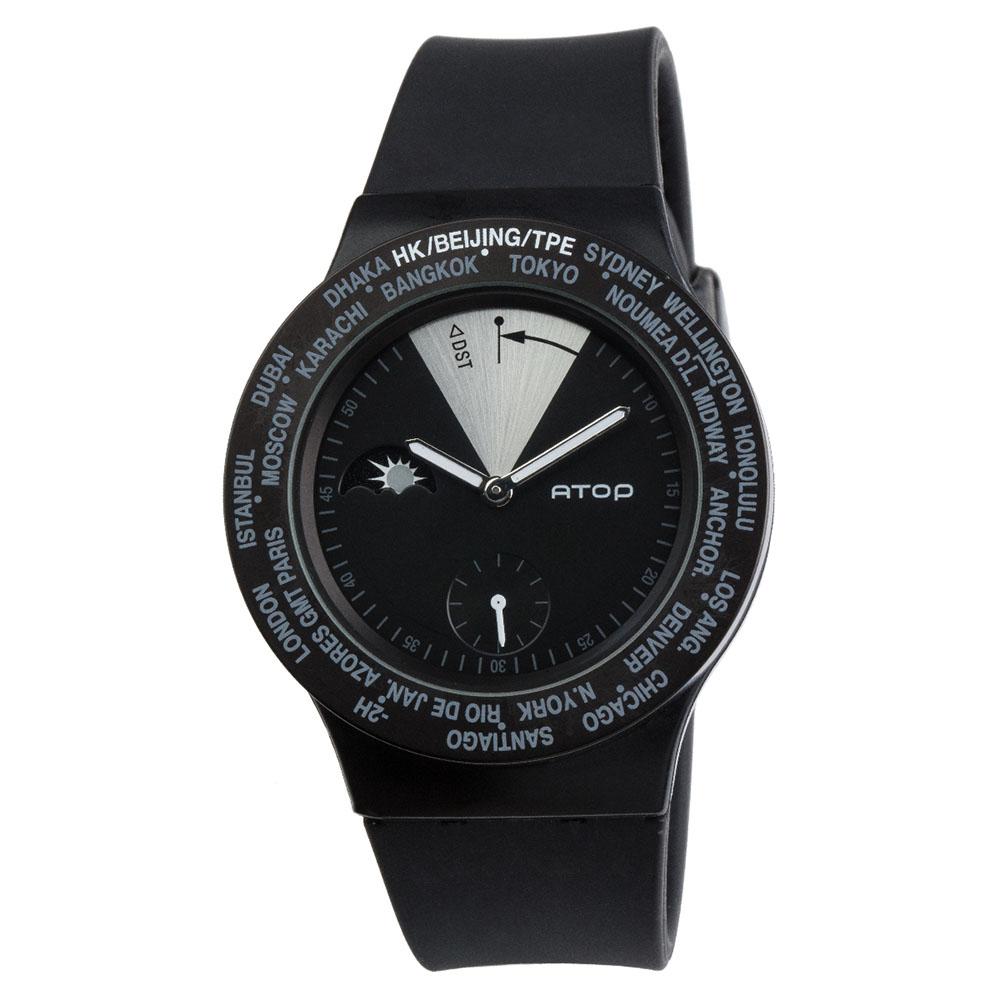 ATOP 世界時區腕錶 - VWA-11 黑色