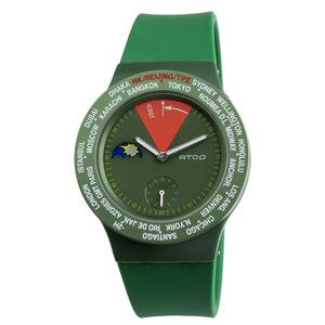 ATOP|世界時區腕錶-24時區經典系列(綠色)