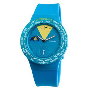 ATOP|世界時區腕錶-24時區經典系列(藍色)