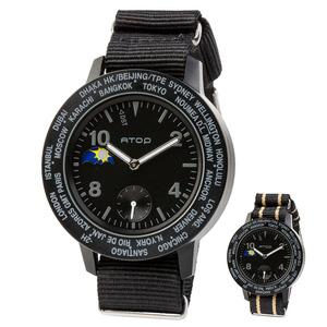 ATOP 世界時區腕錶 - AWA-11-C01C02 黑色