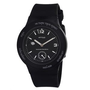 ATOP|世界時區腕錶-8時區系列(黑色)