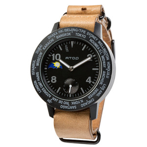 ATOP 世界時區腕錶 - AWA-11-L02 黑色