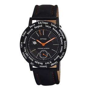 ATOP|世界時區腕錶-24時區菁英系列(黑色)