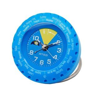 ATOP|世界時區腕錶-24時區馬卡龍鬧鐘(藍色)