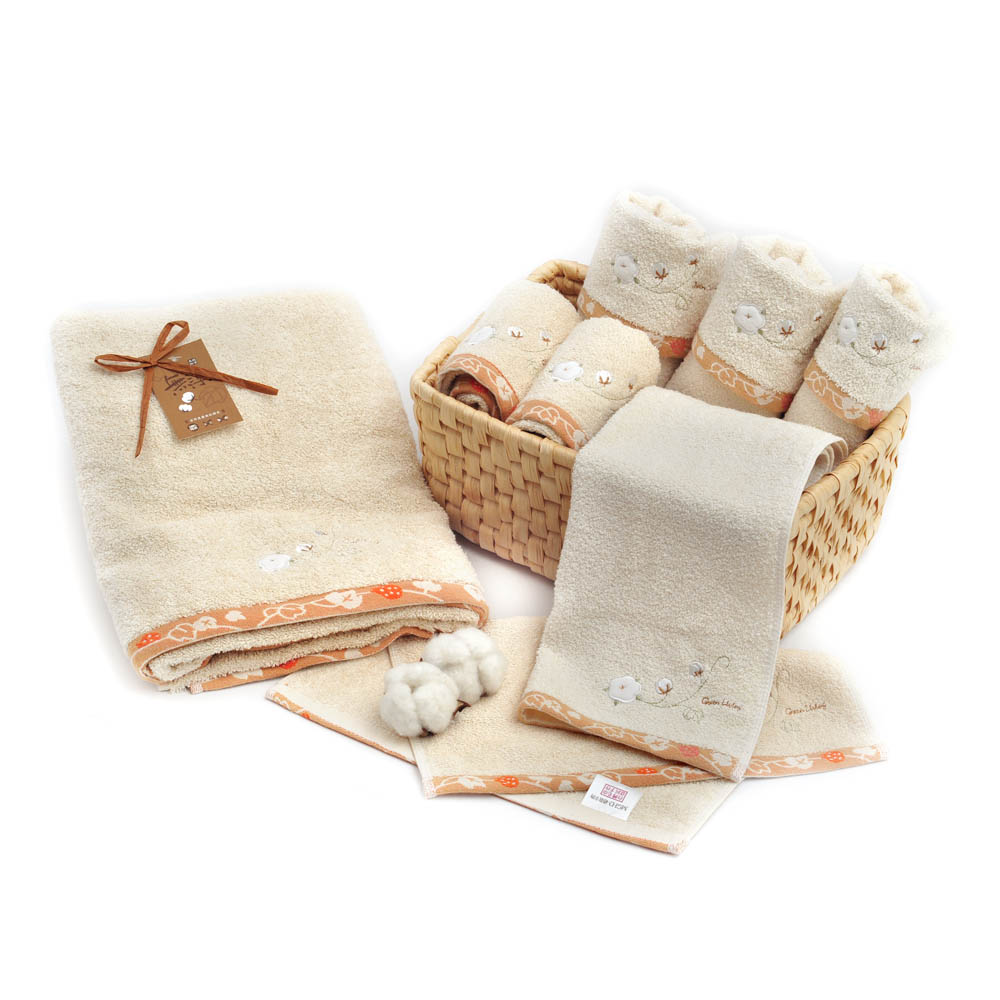 MGHD|繡棉花朵無染典雅大禮盒
