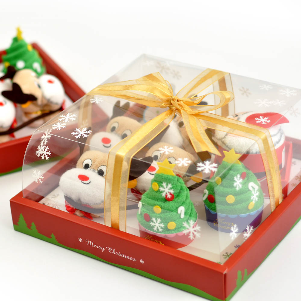 MGHD|聖誕蛋糕毛巾-8吋禮盒