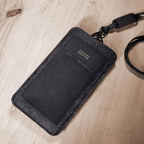 俬品創意|直式手機套(極簡黑)