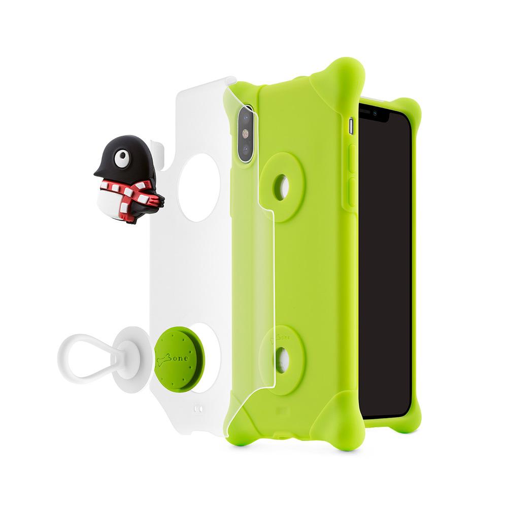 Bone iPhone X 泡泡保護套 - 企鵝