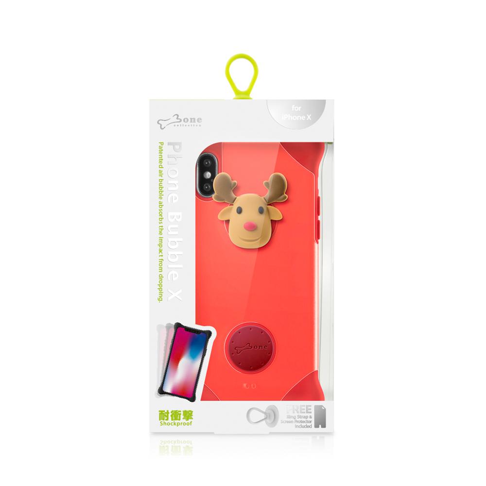 Bone|iPhone X 泡泡保護套 - 麋鹿