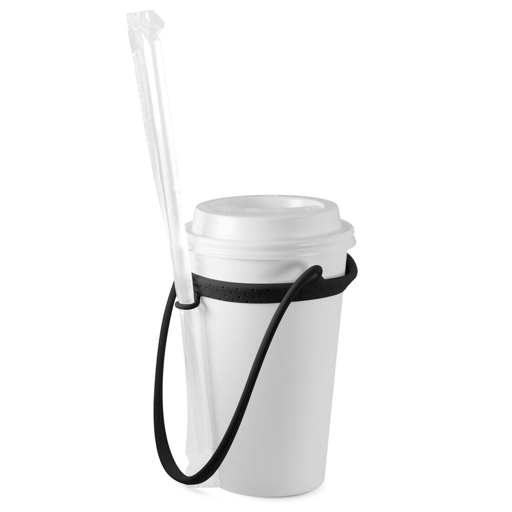 Bone | Cup Tie 環保矽膠飲料杯綁-簡約黑